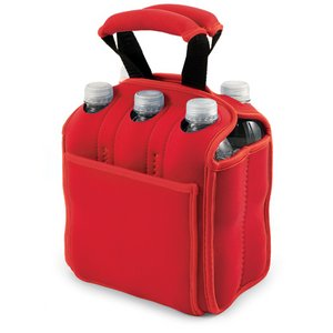 Six Pack Beverage Carrier, (Red)