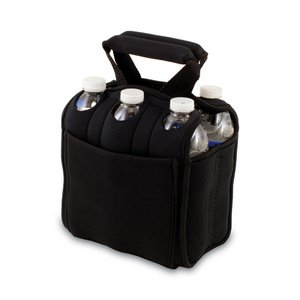 Six Pack Beverage Carrier, (Black)