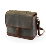 Insulated Double Growler Tote, (Khaki Green & Brown)
