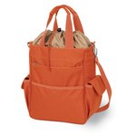 Activo Cooler Tote, (Orange with Grey)