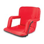 Ventura Portable Reclining Stadium Seat with Armrests -  Red