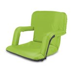 Ventura Portable Reclining Stadium Seat with Armrests - Lime