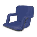 Ventura Portable Reclining Stadium Seat with Armrests - Navy