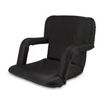 Ventura Portable Reclining Stadium Seat with Armrests - Black