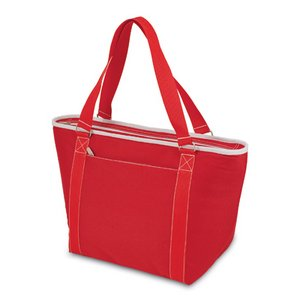 Topanga Insulated Tote Bag- Red W/ White Trim
