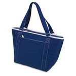 Topanga - Insulated Tote Bag -Navy W/White Trim