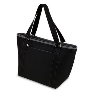 Topanga Insulated Tote Bag - Black W/ Grey Trim