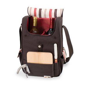 Volare - Moka Collection - Dlx 2 Bottle Wine &Cheese Tote