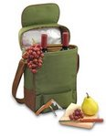 Duet Insulated Two Bottle Wine Tote - Hunter Green