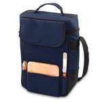 Duet-Navy Dlx 2 Bottle Tote