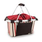 Metro Basket Collapsible Cooler Tote, (Moka Collection)