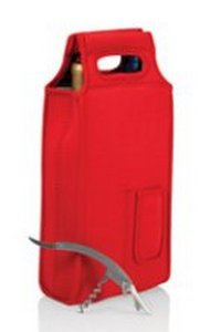 Samba-Red Two Bottle Wine Tote