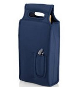 Samba Two Bottle Wine Tote with Waiter Style Corkscrew - Navy