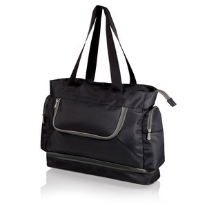 Beach Tote Black with Grey Trim