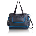 Beach Tote, (Grey with Blue Trim)