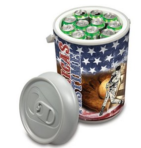 Mega Can Cooler, (Silver with no printed design)