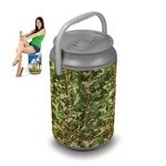 Mega Can Cooler and Seat Combo - Camo
