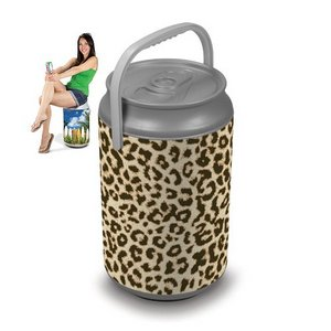 Mega Can Cooler, (Cheetah Print Design)