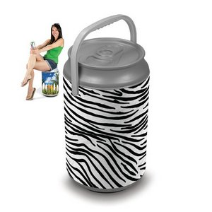 Mega Can Cooler, (Zebra Print Design)