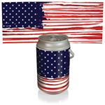 Mega Can Cooler, (Stars & Stripes Design)