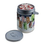 Can Cooler-Silver Plastic Insulated 12 Can Capacity