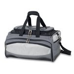 Buccaneer BBQ Tote Gray W/Black And Silv
