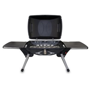 Portagrillo Portable Propane BBQ Grill, (Black with Grey)