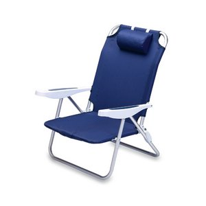 Monaco Portable Reclining Beach Chair - Navy