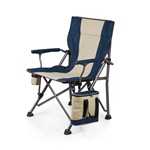 Outlander Camp Chair with Cooler, (Navy)
