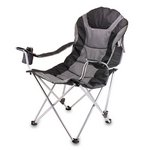 Reclining Camp Chair, (Black & Grey)