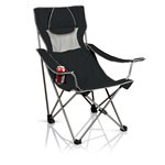 Campsite Camp Chair, (Black with Grey)