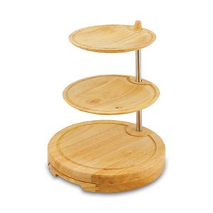 Regalio 3-Tier Serving Tray with Cheese Tools