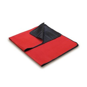Blanket Tote Outdoor Picnic Blanket, (Red with Black Liner)