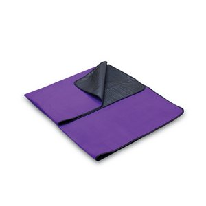 Blanket Tote Outdoor Picnic Blanket, (Purple with Black Liner)