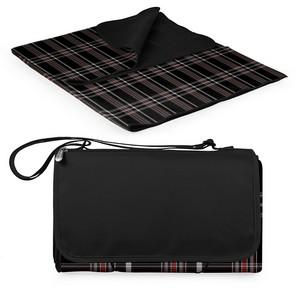 Blanket Tote-Black Tartan