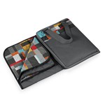 Vista Outdoor Blanket Tote, (Grey with Geometric Print)