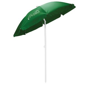 Beach Umbrella with Matching Drawstring Bag  5.5 FeetHunter Green