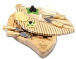 Leaf Cutting Board with Cheese Tools