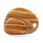 Set of 3 Pebble Shaped Acacia Serving Boards