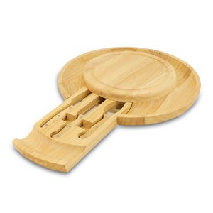 Colby Cutting Board with Cheese Tools and Serving Tray