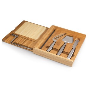 Soir?e Cheese Board & Tools Set with Wire Cutter