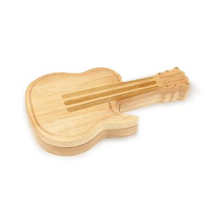 Guitar Shape Cheese Board with Tools