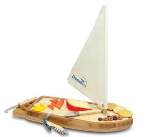 Sailboat Cheese Board & Tools Set