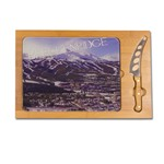 Icon- Rectangular Glass Top Cutting Board w/ knife  Breckenridge