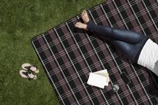 Blanket Tote XL-Black Tartan