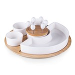 Symphony- Appetizer Bowls and Picks Set (Plain White Box)