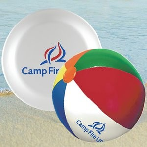 Beach Ball with Flying Disc Summer Fun Kit