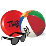 Beach Ball, Flying Disc and Promotional Sunglasses Kit