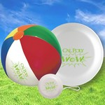 Beach Ball, Flying Disc and Yo-Yo Summer Fun Beach Kit