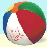 Multi-Color Beach Ball with Logo Imprint
